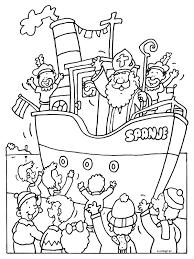 Kleurplaat Sinterklaas Aankomst In Nederland Almere Kleurplaten