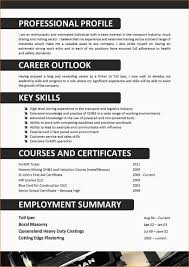 Truck Driver Cv Format Resume Resume Examples Bqapw9ryvz
