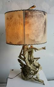 Driftwood Lighting Mid Century Modern Driftwood Lamp With Original Air Brushed