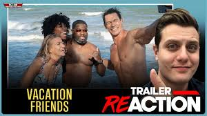A conservative couple meets up with a wild couple while on vacation. Vacation Friends Official Trailer Reaction John Cena Hulu Lil Rel Howery Youtube