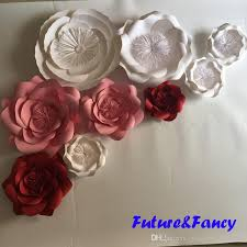 Paper Flower Diy Wedding Giant Paper Flowers For Wedding Backdrops Decorations Kids Room