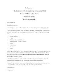 Cover Letter For Mechanic Aircraft Mechanic Cover Letter Template