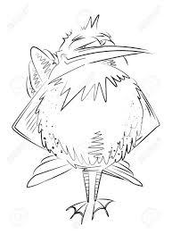 鳥の漫画のイメージ芸術的なフリーハンド画像