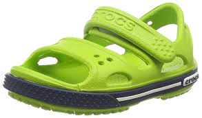 crocs boys crocband ii ps vgr navy ankle strap sandals boys shoes