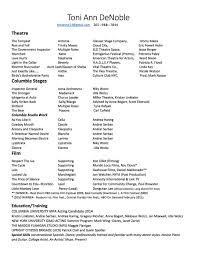 Acting Skills For Resume Theater Resume Format Actor Resume Format