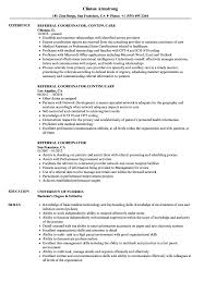 Resume Referral Referral Coordinator Resume Samples Velvet Jobs 1