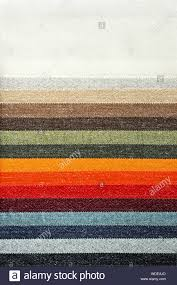 Fashion Colour Chart Decorative And Fashion Carpet Cloth Color Chart Stock Photo