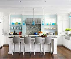 cool kitchen lighting. glass pendant lights are a great way to carry the colors from your backsplash into cool kitchen lighting l