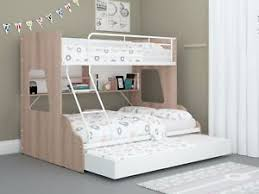 bunk beds with trundle and storage. Perfect Bunk Image Is Loading SingleOverDoubleTrioBunkBedshelvesamp To Bunk Beds With Trundle And Storage H