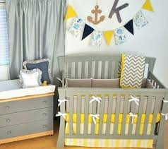 yellow crib per grey white yellow crib bedding with chevron and navy accents baby in the