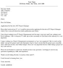 Gallery Of Cover Letter Example It Project Manager Covering Letter