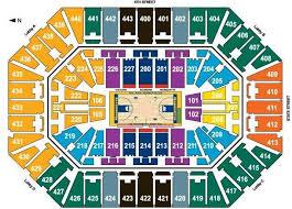 Bradley Center Detailed Seating Chart Ticket King Milwaukee Wisconsin October 2015