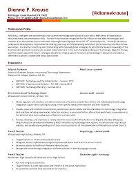 It Resume Objective Instructional Technologist Resume It Resume