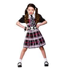 freaky school girl costume large 8 10 years hg6033