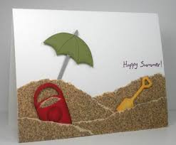 Sand Card Such A Cute Beachy Card Love The Sandpaper Sand Card Ideas