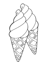 Small Picture Double Sweet Ice Cream Coloring Pages Foods Coloring pages of