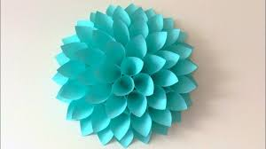 Paper Crafted Flowers Big Paper Flowers Diy Giant Flowers Diy Wall Decor Youtube