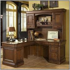awesome l shaped office desk with hutch corner l shaped office desk with hutch black and cherry nainn
