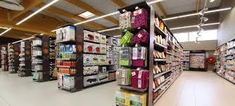 1500 m2 of shelves gondolas and checkout registers for leclerc