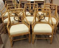 bamboo dining chairs. Lot Of 8 Mcguire Faux Bamboo Dining Chairs H