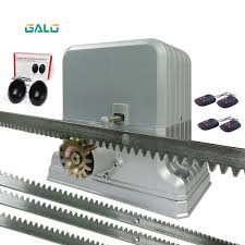 galo 1800kg electric sliding gate motors automatic gate opener engine with steel racks 1 gate photocell 4 remote control