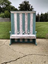 Beach Shabby Chic Furniture Coastal Living BenchBeach Chic BenchBanquette Cottage Bench Accent Beach Shabby Furniture E