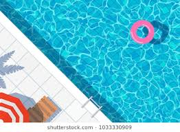 swimming pool background. Swimming Pool Top View Background. Water Ring Umbrella Lounger Background O