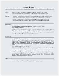Hotel Job Resume Sample Popular Sample Objectives For Resumes Lovely