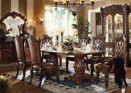 Dining Room Table Sets Leather Chairs Collection Custom Inspiration