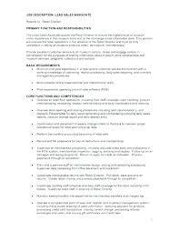 Nordstrom Sales Associate Job Description Resume Of For Grocery