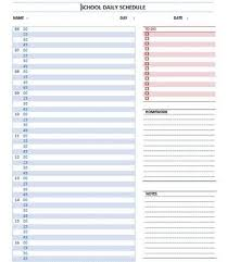 Daily Schedule Template Word Emmamcintyrephotography Com