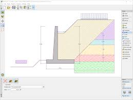 Retaining Wall Design Cantilever Wall Geotechnical Software Geo5 Fine