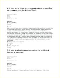 Formal Letter Latest Format Format Of A Formal Letter To The Editor 6 Closing Example