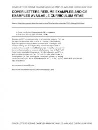 Free Cover Letter Samples For Resumes Sample Opening Resume