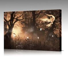 image is loading framed fairy angel wings forest sepia gold framed  on sepia canvas wall art with framed fairy angel wings forest sepia gold framed canvas wall art