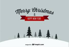 happy new years postcard merry christmas happy new year snow postcard vector free download