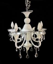 luxury white candle italian chandelier