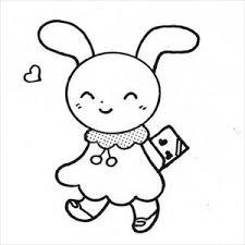 バレンタインウサギ2のイラスト素材 日本福祉パステルアート協会