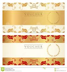 Gift Certificate Voucher Template Gift Certificate Voucher Coupon Template Stock Image Image Of 24