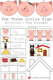 A misunderstood wolf who helps out brenda on her quest. The 3 Little Pigs Activities Free Printables
