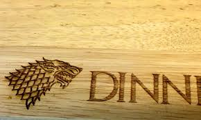 The Wooden Spoon Game Game of Thrones Inspired House Stark Dinner is Coming Large Wooden 95