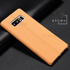usams joe series litchi texture leather back cover for samsung galaxy note 8 sm n950