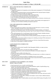 Resume For On Campus Jobs Campus Recruiting Coordinator Resume Samples Velvet Jobs 26
