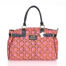 Coach Logo In Monogram Large Pink Satchels ESN Give You The Best feeling!