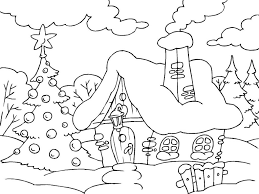 Christmas House Coloring Page Free Printable Coloring Pages For