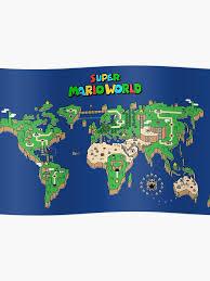 Smw Super Mario World Map Poster
