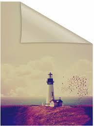 Fensterfolie Leuchtturm Lichtblick Blickdicht Strukturiert