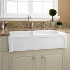 garage appealing 33 inch farmhouse sink 20 402839 double bowl chiseled polished black granite inch farmhouse