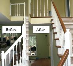 outdoor wooden staircases painting wooden stairs before and after stair railing painting wood outdoor stairs