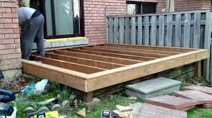10 by 10 diy deck build timelapse of my son and i building a deck over our old patio you